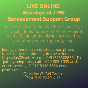 Bereavement Support Group Online