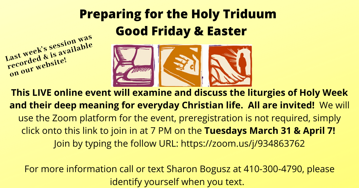 Online Preparing for Holy Triduum